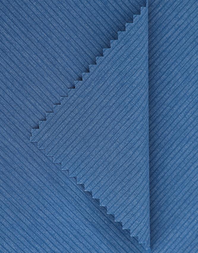 Tejido casual de negocios JZ-W785 tela elástica a rayas brezo