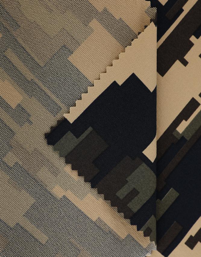 Tela caliente 546 Ropa exterior de tela elástica con estampado de camuflaje